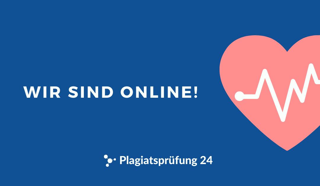Plagiatsprüfung24.de ist online!