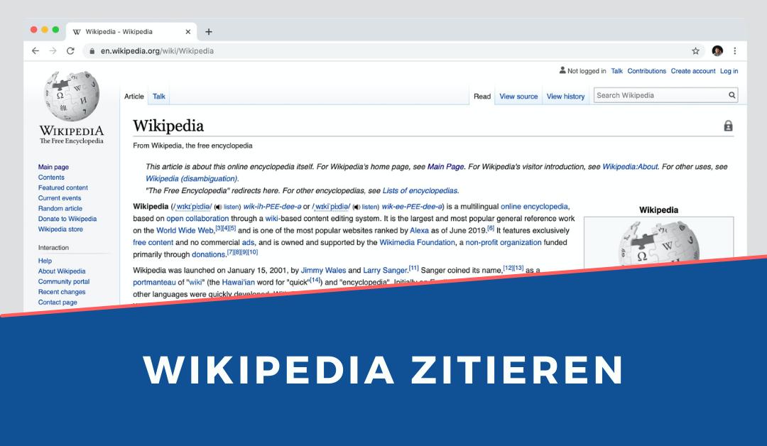Wikipedia zitieren – das solltest du wissen
